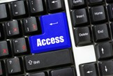 graphic of a keyboard with the word access on one key